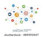 media mechanism concept. growth ... | Shutterstock .eps vector #489493447
