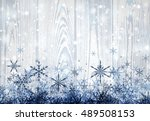 wooden winter light background...