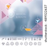 medical and health background...   Shutterstock .eps vector #489522637