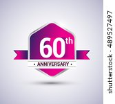 logo 60th anniversary...   Shutterstock .eps vector #489527497