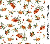 floral seamless pattern with... | Shutterstock . vector #489528607