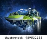 amazing fantasy scenery with... | Shutterstock . vector #489532153