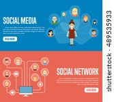 social network people and... | Shutterstock .eps vector #489535933