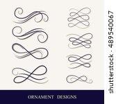 vector vintage ornaments... | Shutterstock .eps vector #489540067