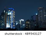 abstract urban night light... | Shutterstock . vector #489543127