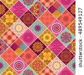 seamless pattern. vintage...   Shutterstock .eps vector #489549127