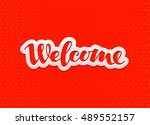 welcome lettering. design for...