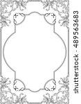 the baroque fine art ornate... | Shutterstock .eps vector #489563683