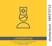 web line icon. doctor | Shutterstock .eps vector #489575713