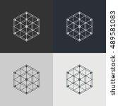 abstract technology element.... | Shutterstock .eps vector #489581083