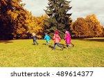 autumn  childhood  leisure and... | Shutterstock . vector #489614377