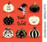 halloween pumpkin | Shutterstock .eps vector #489617473