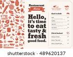 restaurant menu brochure. bill... | Shutterstock .eps vector #489620137