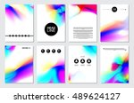 set of brochure templates with... | Shutterstock .eps vector #489624127