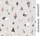 geometric background. objects... | Shutterstock .eps vector #489624397