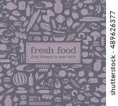 seamless food pattern made from ... | Shutterstock .eps vector #489626377