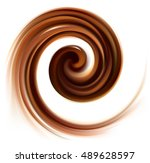 soft mixed dark mahogany curvy... | Shutterstock .eps vector #489628597