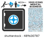 safe icon with 1000 medical...
