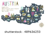 cartoon map of austria with...