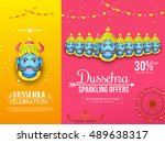 creative illustration sale... | Shutterstock .eps vector #489638317