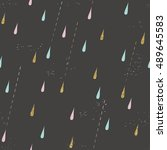 seamless rain pattern. autumn... | Shutterstock .eps vector #489645583