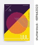 minimalistic design  creative... | Shutterstock .eps vector #489662023