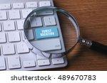 tourism concept  computer...   Shutterstock . vector #489670783