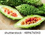 bitter melon  bitter gourd | Shutterstock . vector #489676543