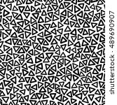 seamless pattern with hand... | Shutterstock .eps vector #489690907