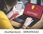 shipping logistic delivery... | Shutterstock . vector #489694333