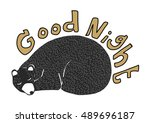 Cute Bear Sleeping. Good Night...