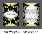 elegant two sides of brochures. ... | Shutterstock .eps vector #489700177