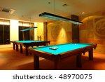 billiard tables | Shutterstock . vector #48970075