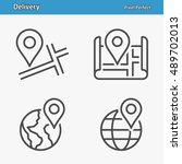 delivery icons. professional ... | Shutterstock .eps vector #489702013