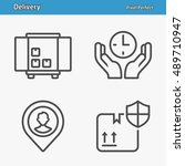 delivery icons. professional ...   Shutterstock .eps vector #489710947
