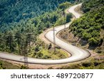 Curve Of The Mountain Road ...