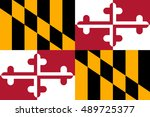 flag of maryland is a state of... | Shutterstock . vector #489725377