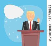 usa election 2016. businessman. ... | Shutterstock .eps vector #489758833