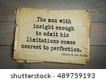 Small photo of TOP-200. Aphorism by Johann Wolfgang von Goethe - German poet, statesman, philosopher and naturalist. The man with insight enough to admit his limitations comes nearest to perfection.