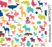 seamless pattern with colored... | Shutterstock .eps vector #489759277