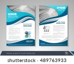 front and back page brochure... | Shutterstock .eps vector #489763933