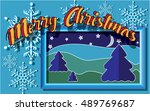 congratulations on christmas... | Shutterstock .eps vector #489769687