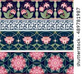 seamless vector set of four... | Shutterstock .eps vector #489781987