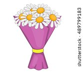 bouquet of flowers icon in... | Shutterstock .eps vector #489799183