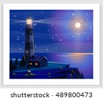seascapes. vector illustration. ... | Shutterstock .eps vector #489800473