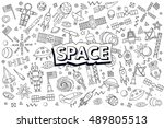 vector abstract illustration of ... | Shutterstock .eps vector #489805513