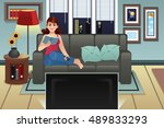 a vector illustration of a... | Shutterstock .eps vector #489833293