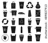 recycle waste management trash... | Shutterstock .eps vector #489837913