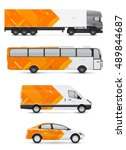 vehicles for advertising and... | Shutterstock .eps vector #489844687