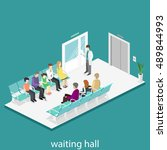 waiting room in hospital.... | Shutterstock .eps vector #489844993